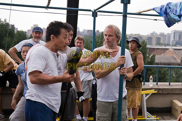 JACKIE CHAN & HARALD ZWART (DIRECTOR).on the set of The Karate Kid (2010).*Filmstill - Editorial Use Only*.CAP/FB.Supplied by Capital Pictures.