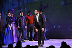 Annaleigh Ashford, Liz McCartney, Brooks Ashmanskas, Phillip Boykin, Robert Sean Leonard and Jake Gyllenhaal during the opening night performance curtain call bows for 'Sunday in the Park with George' at the Hudson Theatre on February 23, 2017 in New York City.
