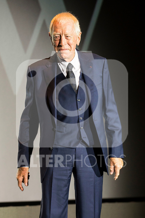 Max Von Sydow receive the honorific award during the opening ceremony of the Festival de Cine Fantastico de Sitges in Barcelona. October 07, Spain. 2016. (ALTERPHOTOS/BorjaB.Hojas)