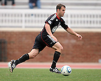 Daniel Woolard (21) of D.C. United  during a scrimmage against the University of Maryland at Ludwig Field, University of Maryland, College Park, on April  10 2011. D.C. United won 1-0.