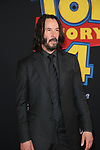www.acepixs.com<br /> <br /> June 11 2019, LA<br /> <br /> Keanu Reeves arriving at the premiere of 'Toy Story 4' at the El Capitan Theatre on June 11 2019 in Los Angeles. <br /> <br /> By Line: Famous/ACE Pictures<br /> <br /> <br /> ACE Pictures Inc<br /> Tel: 6467670430<br /> Email: info@acepixs.com<br /> www.acepixs.com