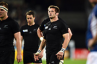 Richie McCaw of New Zealand looks on during a break in play. Rugby World Cup Pool C match between New Zealand and Namibia on September 24, 2015 at The Stadium, Queen Elizabeth Olympic Park in London, England. Photo by: Patrick Khachfe / Onside Images