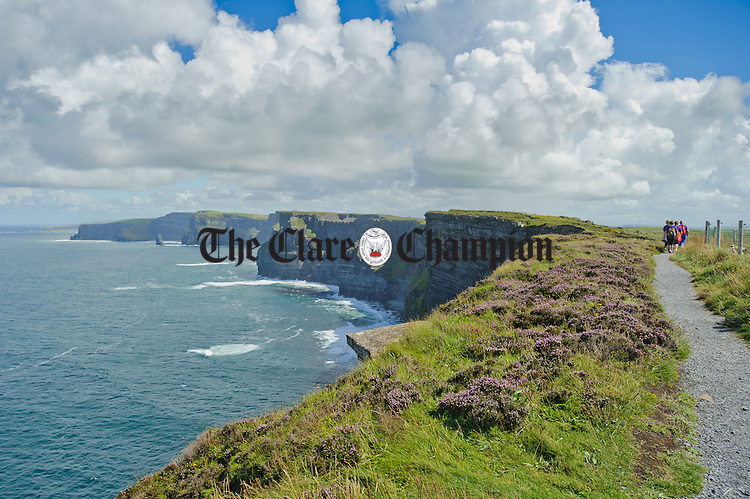 General view of the Cliffs Of Moher during the Weightwatchers/Clare Champion Liscannor to Cliffs of Moher coastal walk. Photograph by John Kelly.