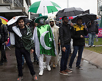 Umbrellas up as the rain pours down during Pakistan vs Sri Lanka, ICC World Cup Cricket at the Bristol County Ground on 7th June 2019