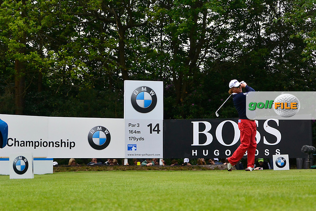 Miguel Angel JIMENEZ (ESP) during round 3 of the 2015 BMW PGA Championship over the West Course at Wentworth, Virgina Water, London. 23/05/2015<br /> Picture Fran Caffrey, www.golffile.ie: