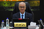 Palestinian Prime Minister, Rami Hamdallah, chairs a meeting of council ministery, in the West Bank city of Ramallah, on January 3, 2019. Photo by Prime Minister Office