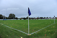 26th October 2013; General view of the pitch before kick-off. Ulster Bank League Division 1B, Blackrock College v Corinthians, Stradbrook Road, Dublin. Picture credit: Tommy Grealy / Actionshots.ie