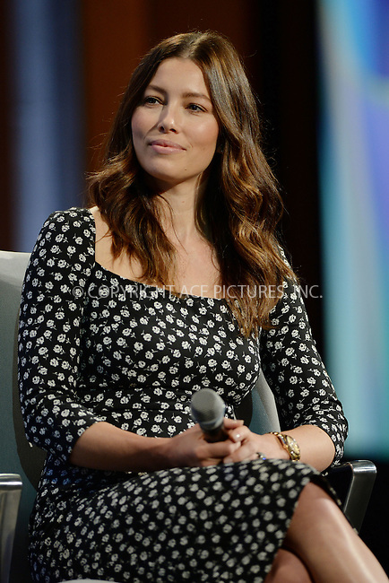 WWW.ACEPIXS.COM<br /> September 28, 2015 New York City<br /> <br /> Jessica Biel attending the CGI Annual Meeting on September 28, 2015 in New York City.<br /> <br /> Credit: Kristin Callahan/ACE Pictures<br /> <br /> Tel: (646) 769 0430<br /> e-mail: info@acepixs.com<br /> web: http://www.acepixs.com
