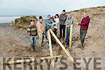 Maharabeg Cut, Maharees - Fencing being erected as part of dune and coastal regeneration project. Pictured members of Maharees Heritage and Maharees Conservation Association l-r Tomas O' Scannil, Sean Spillane, Eoin Herlihy, Isabel Herlihy Mary Ryall, Martin Lynch, Pat Browne, Aidan O'Connor