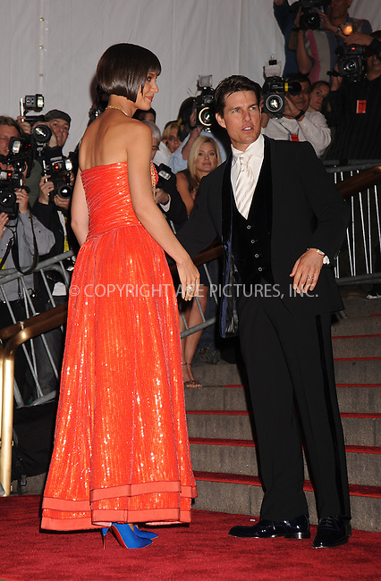 WWW.ACEPIXS.COM . . . . . ....May 5 2008, New York City....Tom Cruise and Katie Holmes arriving at the Metropolitan Museum of Art Costume Institute Gala, Superheroes: Fashion and Fantasy, held at the Metropolitan Museum of Art on the Upper East Side of Manhattan.....Please byline: KRISTIN CALLAHAN - ACEPIXS.COM.. . . . . . ..Ace Pictures, Inc:  ..(646) 769 0430..e-mail: info@acepixs.com..web: http://www.acepixs.com
