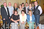Pictured at the 21st birthday celebrations for the Department of Justice in the Malton Hotel, Killarney on Friday night were Mary Varley, Catriona Murphy, Anna Marie Looney, Paddy Lawlor, Brenda Blennerhassett, Brenda Mulligan, Tracey O'Shea, Miriam Brosnan, Seamus and Josephine Long and Paul O'Keeffe.