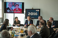 Praesentation der CDU-Kampagne fuer die Abgeordnetenhauswahl am 18. September 2016 in Berlin.<br /> Der CDU-Landesvorsitzende Frank Henkel stellte am Mittwoch den 6. April 2016 zusammen mit dem<br /> Wahlkampfleiter Kai Wegner und dem<br /> Kampagnenmanager Thomas Heilmann die Kampagne der Berliner CDU zur Abgeordnetenhauswahl vor. Konkrete Plakate mit Fotomotiven konnten nur eingeschraenkt gezeigt werden, da die CDU die Nutzungsrechte nicht erworben hat. So wurden den Journalisten nur Plakatideen und das Logo der Kampagne praesentiert.<br /> Im Bild vlnr: Thomas Heilmann, Frank Henkel, Kai Wegner<br /> 6.4.2016, Berlin<br /> Copyright: Christian-Ditsch.de<br /> [Inhaltsveraendernde Manipulation des Fotos nur nach ausdruecklicher Genehmigung des Fotografen. Vereinbarungen ueber Abtretung von Persoenlichkeitsrechten/Model Release der abgebildeten Person/Personen liegen nicht vor. NO MODEL RELEASE! Nur fuer Redaktionelle Zwecke. Don't publish without copyright Christian-Ditsch.de, Veroeffentlichung nur mit Fotografennennung, sowie gegen Honorar, MwSt. und Beleg. Konto: I N G - D i B a, IBAN DE58500105175400192269, BIC INGDDEFFXXX, Kontakt: post@christian-ditsch.de<br /> Bei der Bearbeitung der Dateiinformationen darf die Urheberkennzeichnung in den EXIF- und  IPTC-Daten nicht entfernt werden, diese sind in digitalen Medien nach §95c UrhG rechtlich geschuetzt. Der Urhebervermerk wird gemaess §13 UrhG verlangt.]
