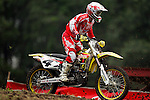 Ricky Carmichael (4) practices on the course at the Unadilla Valley Sports Center in New Berlin, New York on July 16, 2006, one day prior to the AMA Toyota Motocross Championship.