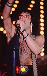 Paul Stanley of Kiss performing live in Poughkeepsie, NY - Nov 1984.