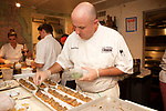 New York, NY - October 26, 2017: Chef Michael Rozzi and his team from 1770 House present dinner at the James Beard House in Greenwich Village.<br /> <br /> <br /> CREDIT: Clay Williams for The James Beard Foundation.<br /> <br /> &copy; Clay Williams / claywilliamsphoto.com