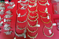"""COPY BY TOM BEDFORD<br /> Pictured: Bridal accessories and jewellery on display at the John Pye Auctions warehouse in Pyle, south Wales, UK.<br /> Re: A bride cried tears of joy after her missing wedding dress was found among a pile of 20,000 gowns in a warehouse.<br /> Meg Stamp, 27, paid £1,300 for the beautiful ivory lace dress but it  was seized by liquidators after a bridal company went bust.<br /> It was boxed up along with 20,000 others and due to be sold for a knock-down price at auction.<br /> But determined Meg banged on the auctioneer door saying: """"I want my dress back"""".<br /> Staff at John Pye auctioneers in Port Talbot spent three hours sifting through boxes until they finally found Meg's dream dress.COPY BY TOM BEDFORD<br /> Pictured: at the John Pye Auctions warehouse in Pyle, south Wales, UK.<br /> Re: A bride cried tears of joy after her missing wedding dress was found among a pile of 20,000 gowns in a warehouse.<br /> Meg Stamp, 27, paid £1,300 for the beautiful ivory lace dress but it  was seized by liquidators after a bridal company went bust.<br /> It was boxed up along with 20,000 others and due to be sold for a knock-down price at auction.<br /> But determined Meg banged on the auctioneer door saying: """"I want my dress back"""".<br /> Staff at John Pye auctioneers in Port Talbot spent three hours sifting through boxes until they finally found Meg's dream dress."""