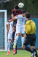 STANFORD, CA - August 19, 2014: Brian Nana-Sinkam during the Stanford vs CSU Bakersfield men's exhibition soccer match in Stanford, California.  Stanford won 1-0.