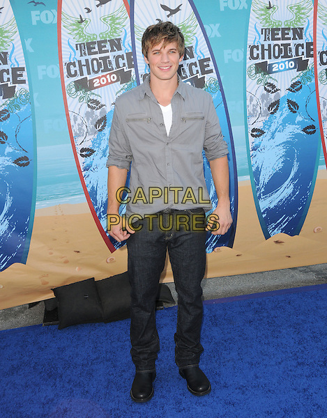 MATT LANTER.Fox Teen Choice 2010 Awards held at the Universal Ampitheatre in Universal City, California, USA..August 8th, 2010    .full length  shirt jeans denim grey gray.CAP/RKE/DVS.©DVS/RockinExposures/Capital Pictures.