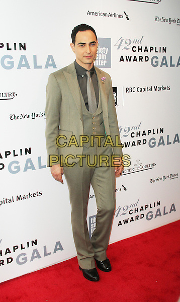 April 27,  2015: Zac Posen at Film Society Lincoln Center presents 42nd Chaplin Award Gala  at Alice Tully Hall Lincoln Center in New York. <br /> CAP/MPI/RW<br /> &copy;RW/MPI/Capital Pictures