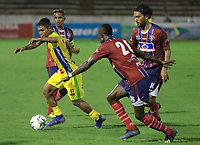 NEIVA - COLOMBIA, 15-12-2015: Atlético Huila y Union Magdalena en partido por la fecha 2 de la Liga Águila I 2019 jugado en el estadio Guillermo Plazas Alcid de la ciudad de Neiva. / Atletico Huila and Union Magdalena in match for the date 2 of the Aguila League I 2019 played at Guillermo Plazas Alcid in Neiva city. VizzorImage / Sergio Reyes / Cont