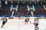 Stockholm 2014-01-08 Ishockey SHL AIK - Lule&aring; HF :  <br /> Publik och tomma stolar p&aring; ena l&aring;ngsidan av l&auml;ktaren p&aring; Hovet under matchen<br /> (Foto: Kenta J&ouml;nsson) Nyckelord:  supporter fans publik supporters inomhus interi&ouml;r interior