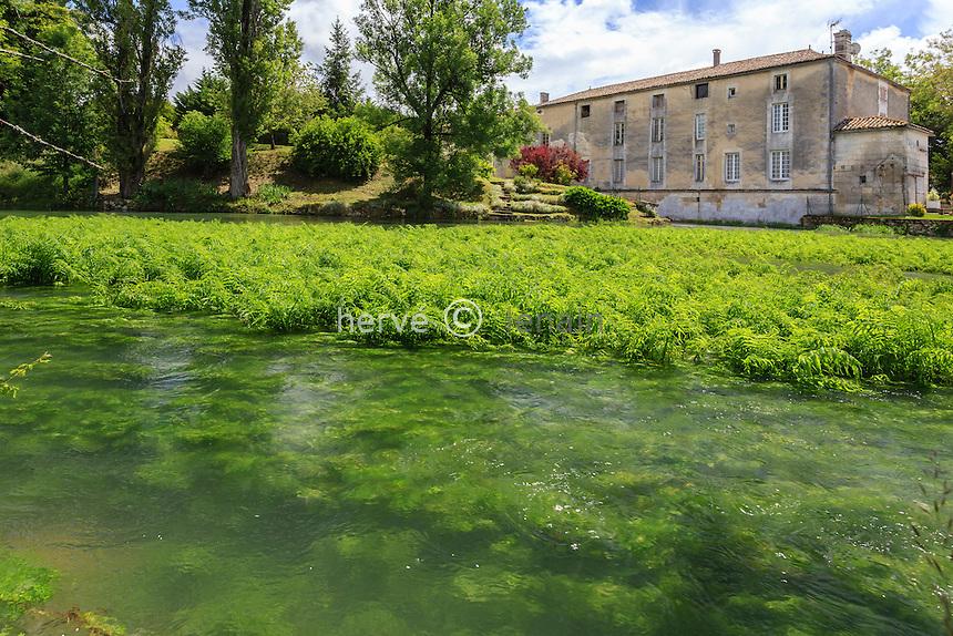 France, Charente (16), Touvre, les sources de la Touvre