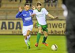 2015-10-24 / voetbal / seizoen 2015-2016 / ASV Geel - Dessel Sport / Alessio Allegria (l) (Geel) in duel met Michiel Jaeken (r) (Dessel Sport)