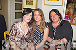 Noreen O'Mahony, Marguerite Corridan and Marie Kennelly from Eliza Belle Interiors pictured here last Saturday night where traders and business's from Church Street, Listowel  came together for a special Christmas party in Allos Restaurant, Listowel.
