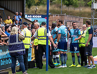 Wycombe Wanderers fans are upset after the loss to Colchester United and vent their frustration with Paul Hayes and Adebayo Akinfenwa of Wycombe Wanderers after the Sky Bet League 2 match between Wycombe Wanderers and Colchester United at Adams Park, High Wycombe, England on 27 August 2016. Photo by Liam McAvoy.