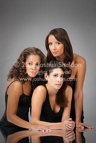 Portrait of three Hispanic women