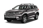 2017 Toyota Highlander Limited-Platinum 5 Door SUV Angular Front stock photos of front three quarter view