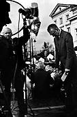 Warsaw 04/2010 Poland<br /> People mourning the tragic death of President Lech Kaczynski and his wife in front of the presidential residence.<br /> on picture: TV presenter<br /> Photo: Adam Lach / Napo Images for The New York Times<br /> <br /> Zaloba po tragicznej smierci Prezydenta Lecha Kaczynskiego i jego malzonki,ul. Krakowskie Przedmiescie przed Palacem Prezydenckim.<br /> na zdjeciu: prezenter telewizyjny<br /> Fot: Adam Lach / Napo Images dla The New York Times