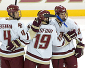 Mike Brennan, Brock Bradford, Anthony Aiello - Boston College defeated Merrimack College 3-0 with Tim Filangieri's first two collegiate goals on November 26, 2005 at Kelley Rink/Conte Forum in Chestnut Hill, MA.