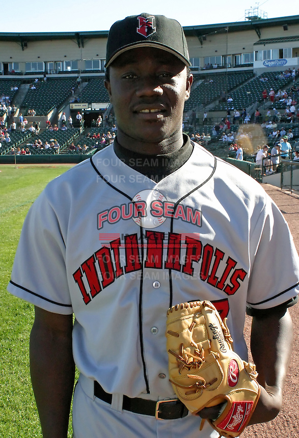 July 18, 2003:  Pasqual Coco of the Indianapolis Indians, Class-AAA affiliate of the Milwaukee Brewers, during an International League game at Frontier Field in Rochester, NY.  Photo by:  Mike Janes/Four Seam Images