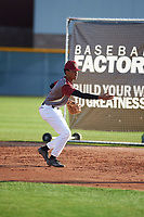 Justice Panton (8) of Desert Vista High School in Phoenix, Arizona during the Baseball Factory All-America Pre-Season Tournament, powered by Under Armour, on January 14, 2018 at Sloan Park Complex in Mesa, Arizona.  (Zachary Lucy/Four Seam Images)