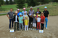 Junior Clinic during the third round of the Kazakhstan Open presented by ERG played at Zhailjau Golf Resort, Almaty, Kazakhstan. 15/09/2018<br /> Picture: Golffile | Phil Inglis<br /> <br /> All photo usage must carry mandatory copyright credit (&copy; Golffile | Phil Inglis)