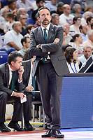 Unicaja Malaga's coach Joan Plaza during semi finals of playoff Liga Endesa match between Real Madrid and Unicaja Malaga at Wizink Center in Madrid, June 02, 2017. Spain.<br /> (ALTERPHOTOS/BorjaB.Hojas) /NortePhoto.com