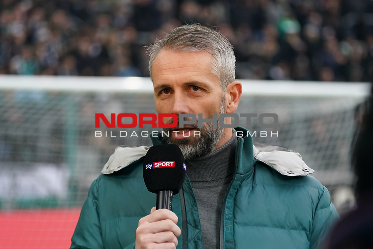 01.12.2019, Borussia Park , Moenchengladbach, GER, 1. FBL,  Borussia Moenchengladbach vs. SC Freiburg,<br />  <br /> DFL regulations prohibit any use of photographs as image sequences and/or quasi-video<br /> <br /> im Bild / picture shows: <br /> Marco Rose Chefrainer/Headcoach (Gladbach),  im Interview<br /> <br /> Foto © nordphoto / Meuter