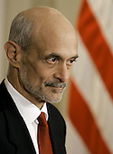 United States President George W. Bush today announced his intention to nominate Michael Chertoff, of New Jersey, to be Secretary of Homeland Security.  He currently serves as a United States Circuit Judge for the Third Circuit Court of Appeals.  Judge Chertoff previously served as Assistant Attorney General for the Criminal Division at the Department of Justice.  As Assistant Attorney General, he helped trace the terrorist attacks to the al-Qaida network after September 11 and increased information sharing within the Federal Bureau of Investigation (FBI). Prior to joining the Bush Administration, Judge Chertoff was a Partner in law firm of Latham & Watkins.  From 1994 to 1996, he served as Special Counsel for the United States Senate Whitewater Committee.  In 1990, Judge Chertoff was appointed by United States President George H. W. Bush to be United States Attorney for the District of New Jersey.  He began his career in public service in 1983, in the United States Attorney's Office for the Southern District of New York.  Judge Chertoff received his bachelor's degree from Harvard University and his Juris Doctorate (J.D.) from Harvard Law School.<br /> Credit: Mark Wilson / Pool via CNP