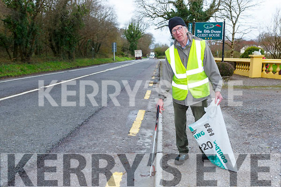Gerry Collins Fossa who was out picking litter up in Fossa on Monday morning