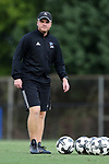 DURHAM, NC - SEPTEMBER 05: Presbyterian head coach Jonathan Potter. The Duke University Blue Devils hosted the Presbyterian College Blue Hose on September 5, 2017 at Koskinen Stadium in Durham, NC in a Division I college soccer game. The game ended in a 1-1 tie after two overtimes.