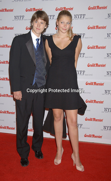 "..actor Spencer Clark and date Lily Cowles..arriving at the opening of the 41st New York Film Festival ..screening of "" Mystic River"" on October 3, 2003 in New York City. Photo By Robin Platzer, Twin Images"