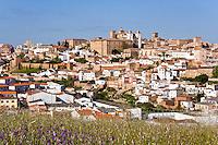 Ciudad Monumental de Caceres from E, Spain
