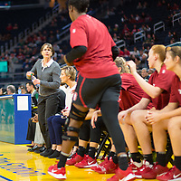 SAN FRANCISCO, CA - NOVEMBER 09: San Francisco, CA - November 9, 2019: Tara Vanderveer at the Chase Center. The Stanford Cardinal defeated the USF Dons 97-71. during a game between University of San Francisco and Stanford Basketball W at Chase Center on November 09, 2019 in San Francisco, California.