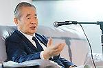 "Yoshiro Nakamatsu, SEPTEMBER 14, 2015 : Inventor Yoshiro Nakamatsu, better known as ""Dr. Nakamatsu"" announces his plans for Tokyo's 2020 Olympic stadium in Tokyo on September 14, 2015. (Photo by AFLO)"