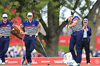 Jimmy Walker US Team tees off the 12th tee during Thursday's Practice Day of the 41st RyderCup held at Hazeltine National Golf Club, Chaska, Minnesota, USA. 29th September 2016.<br /> Picture: Eoin Clarke | Golffile<br /> <br /> <br /> All photos usage must carry mandatory copyright credit (&copy; Golffile | Eoin Clarke)