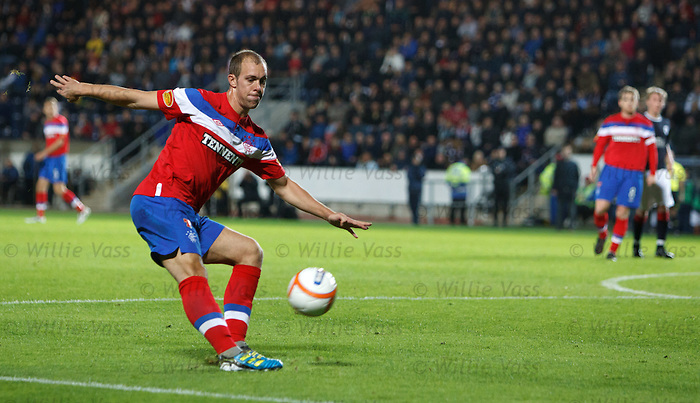 Steven Whittaker blasts the ball over the bar