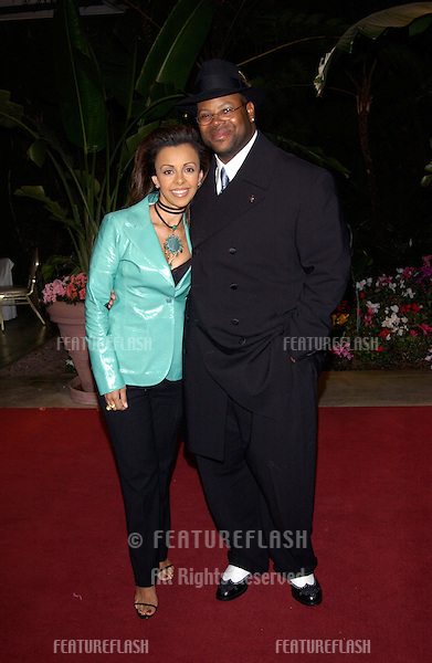 JIMMY JAM & wife LISA at pre-Grammy party given by Clive Davis of J Records at the Beverly Hills Hotel..25FEB2002  © Paul Smith / Featureflash