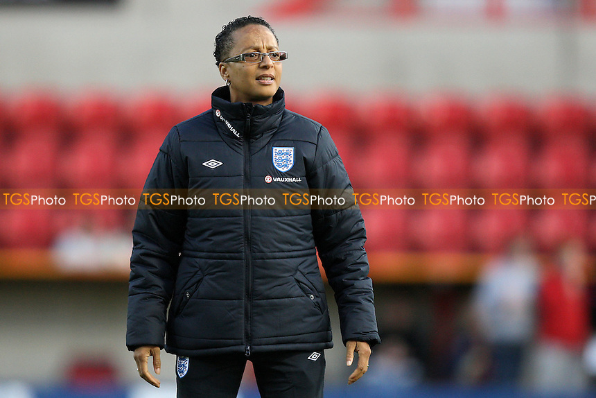England manager Hope Powell - England Women vs Slovenia Women - European Championship Qualifying Match at the County Ground, Swindon Town FC - 22/09/11 - MANDATORY CREDIT: Gavin Ellis/TGSPHOTO - Self billing applies where appropriate - 0845 094 6026 - contact@tgsphoto.co.uk - NO UNPAID USE.