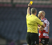 Gloucester Rugby Willi Heinz gets a yellow card in the first half of todays match<br /> <br /> Photographer Rachel Holborn/CameraSport<br /> <br /> European Rugby Challenge Cup Final - Gloucester Rugby v Stade Francais Paris - Friday 12th May 2017 - BT Murrayfield, Edinburgh<br /> <br /> World Copyright &copy; 2017 CameraSport. All rights reserved. 43 Linden Ave. Countesthorpe. Leicester. England. LE8 5PG - Tel: +44 (0) 116 277 4147 - admin@camerasport.com - www.camerasport.com